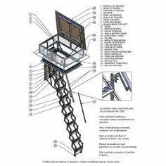 1000 images about escaleras y elevadores on pinterest for Silla escalera plegable planos