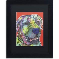 Trademark Fine Art Zeus Canvas Art by Dean Russo, Black Matte, Black Frame, Size: 16 x 20