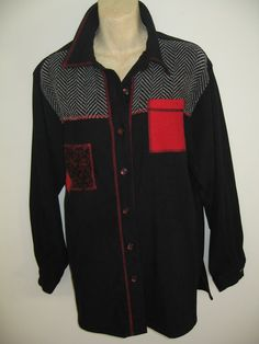Vtg Koret of California Jacket Black with Herringbone by twysp2, $26.00