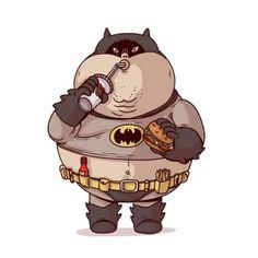 Fat Batman   #Illustration #Geek