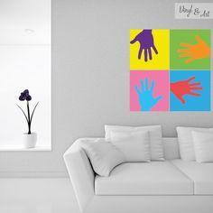 Vinilo Adhesivo Decorativo Pop Art - Manos Pop Art. Andy Warhol fue un artista plástico y cineasta estadounidense que desempeñó un papel crucial en el nacimiento y desarrollo del Pop Art, este fue un importante movimiento artístico del siglo XX que se caracterizó por utilizar temas y técnicas basados en la cultura popular. #vinilos #adhesivos #decorativos #vinylandart #arte #inspiracion #diseño #popart #manos www.vinylandart.com