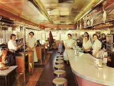 Post-War, The Frost Diner, Warrenton VA - Memories of eating at similar dinners while growing up.