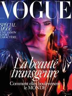Valentina Sampaio en couverture de Vogue Paris