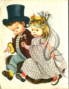 Illustration from Come Play House by Eloise Wilkin