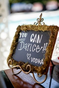 This sign is everything! A fun way to encourage your wedding guests to dance and enjoy themselves! {William Innes Photography}