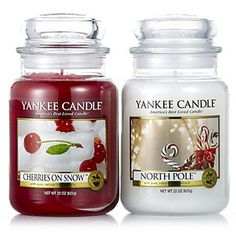 Yankee Candle Set of 2 Exclusive Festive Large Jars