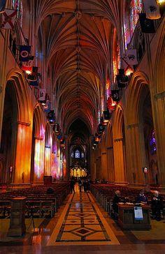 Washington National Cathedral's interior, Washington D.C.
