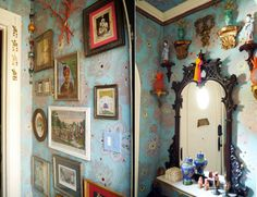 John Loecke and Jason Oliver Nixon: Madcap Cottage foyer with its vintage Chinoiserie figurines