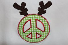 Reindeer Peace Sign Shirt by Oohlawee on Etsy, $16.00  www.etsy.com/shop/oohlawee