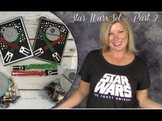 "PART 2 How to make a Star Wars Theme Party Pack crafts. do it yourself star wars. stampin up. card ideas. ——— STAMPIN UP S U P P L I E S ———  • Gusseted Cellophane Bags #133770 • 1"" X 8"" Cellophane Bags #124134 • Be The Star Clear-Mount Stamp Set #135734 • Silver Foil Sheets #132178 • Basic Black Archival Stampin' Pad #140931 • Basic Black 8-1/2X11 Card Stock #121045 • Basic Gray 8-1/2X11 Card Stock"