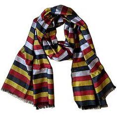 House of Wandering Silk - Afghan silk scarf in bold stripes (Af19)