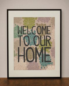 welcome  - the sign, different colors