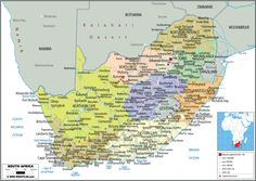 map of south african cities - Google Search
