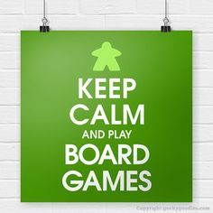 Keep Calm and Play Board Games Poster by GeekyGoodiesShop on Etsy