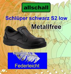 Schlüpfer schwarz S2 - Neu Modelle - Allschall GmbH Clogs, Protective Gloves, Black, Clog Sandals