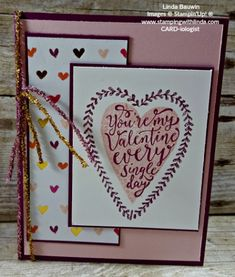 Stampin' Up! Retiring Product is going fast Linda Bauwin Your CARD-iologist Helping you create cards from the heart. Valentine Heart, Valentine Day Cards, Valentine Crafts, Valentine Ideas, Valentine Decorations, Stampin Up Cards, Your Cards, 3 D, Projects To Try