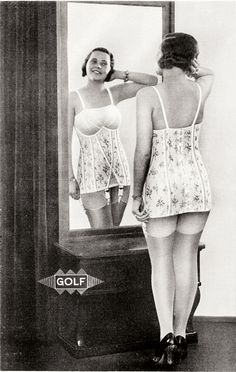Advertising for the 'elasticized' collection c.1930's