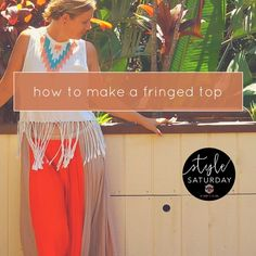 I made this cute fringed top for my inner hippie. Diy Shirt, More Fun, Cute, How To Make, Tops, Shirts, Style, Fashion, Swag