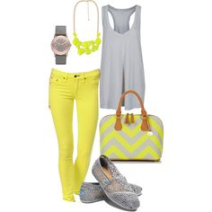 Citron & Grey, created by fleurdelove on Polyvore