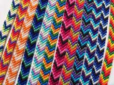 Off Centre Rainbow Chevron Friendship Bracelet [Tutorial] - Thread Bracelets, Diy Bracelets Easy, Embroidery Bracelets, Summer Bracelets, Bracelet Crafts, Cute Bracelets, Ankle Bracelets, Fashion Bracelets, Braided Friendship Bracelets