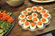 Deviled Pumpkin Eggs