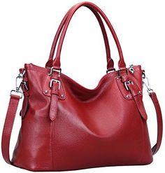 Heshe Womens Vintage Shoulder Bag Tote Purse Cross Body Big Capacity Handbag (Wine) - http://leather-handbags-shop.com/heshe-womens-vintage-shoulder-bag-tote-purse-cross-body-big-capacity-handbag-wine/