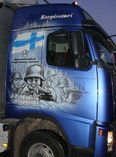 Airbrush artwork by Design Simo Riikonen. #simoriikonen #art #artwork #design #truck #trucking #airbrush #airbrushing