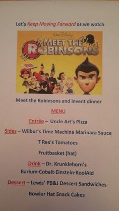 Disney Dinner Night #63 - Meet the Robinsons