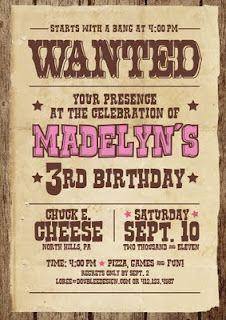Western theme Invitation Templates Inspirational Items Similar to Western Wanted Birthday Invitations On Etsy Country Birthday, Cowgirl Birthday, Cowgirl Party, 1st Birthday Parties, Birthday Party Invitations, Invites, Birthday Ideas, Birthday Flyer, 12th Birthday