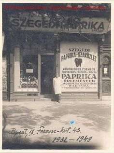 Szeged pepper shop in Budapest