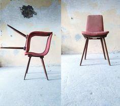 Krzesło A-6150, lata 60/70. XX wieku,  prod. Fabryka Mebli Giętych w Radomsku.