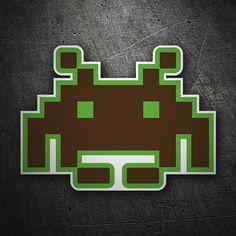 Pegatinas: Space invaders de TeleAdhesivo #coche #pegatina #sticker