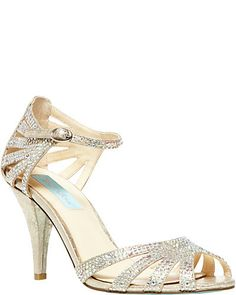 Blue by Betsey Johnson Sweet Evening Sandals, The perfect sparkle. The perfect height. The Sweet Evening sandals by Blue by Betsey Johnson are everything you've been looking for. Blue By Betsey Johnson, Betsey Johnson Dresses, Evening Sandals, Evening Shoes, Designer Wedding Shoes, Glitter Sandals, Sparkle Heels, Sparkly Shoes, Prom Shoes