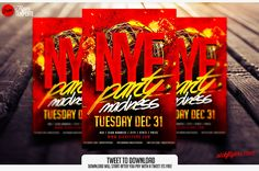 Free New Year's eve Flyer Template | Free New Year's eve Flyer psd | sickflyers.com