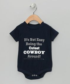Take a look at this Moss Brothers Navy 'Cutest Cowboy' Bodysuit - Infant by Moss Brothers on #zulily today!