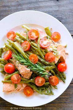 Clean Eating Recipes   Pressure Cooker Recipes   Healthy Recipes   Salmon Recipes   Mediterranean Salmon Recipe ~ http://www.thegraciouspantry.com