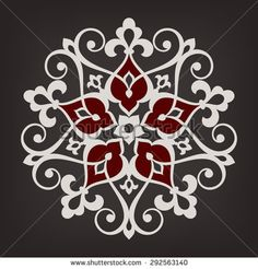 Circular pattern. Mandala. Round vintage vector ornament in Arabesque style.