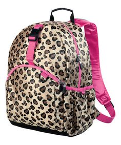Loving this Shiny Brown Leopard Be Right Backpack on #zulily! #zulilyfinds