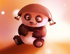 "Cutest clip art of baby Po from ""Kung Fu Panda"""