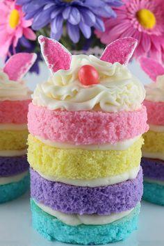 Bunny Mini Cakes  - CountryLiving.com