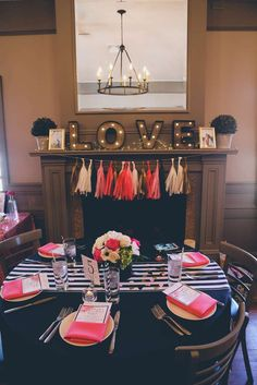 Black, White, Pink & Gold Bridal/Wedding Shower Party Ideas | Photo 1 of 64 | Catch My Party