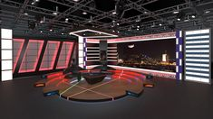Virtual TV Studio Sets If you are interested in these works, you can visit our website and buy our designs in various formats ( Obj, FBX, Stl, ) at economical prices. Tv Sets, Stage Set, Set Design, 3 D, Website, News, Studio, Bedroom, Interior