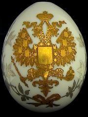 Large Imperial golden eagle egg Fabergé Russian Imperial Easter Egg