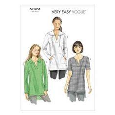 Vogue Misses' Tunic Pattern V8951 Size 0Y0