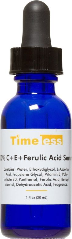 Timeless Skin Care Vitamin C Serum - helps to even out my skin tone and lighten up the lighter age spots.