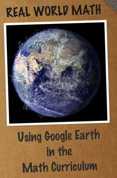 Educational Technology Guy: Real World Math - ideas for using Google Earth in math class: Scientific Notation with distances, fractal measurement, and volume of the pyramids to name a few.