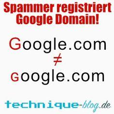 Spammer registriert Google Domain