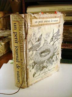 altered book, handmade, vintage, ephemera, journal