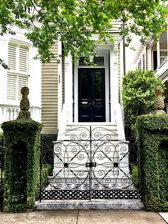 Historic Charleston by Bike - Quintessence Charleston Style, Charleston Gardens, Charleston Homes, Iron Gates, Southern Homes, Southern Charm, Grand Entrance, Garden Gates, Architecture Details