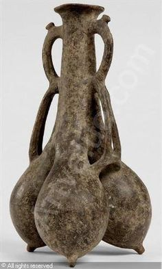 Iran, amlash, ceramic vase , ca 1000 BC. گلدان سرامیکی، هنر املش، ۱۰۰۰ پیش از میلاد  / موزه مجازى هنر ايران در فيسبوک